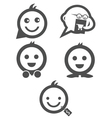 Cute shopping character icons vector
