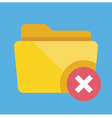 Delete folder icon vector
