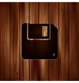 Floppy disk icon wooden texture vector