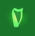 Irish celtic harp vector