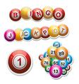 Bingo stickers set vector