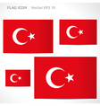 Turkey flag template vector