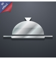 Food platter serving icon symbol 3d style trendy vector