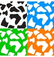 Seamless animal patterns skin fur vector