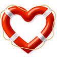 Life buoy in the shape of heart vector