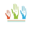 Abstract hands seamless background vector