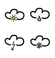 Symbol for weather forecast vector