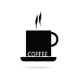 Coffee cup black vector