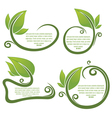 Leaf frame and form for your text vector