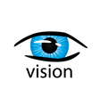 Graphic logo eye close up vector