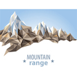 Mountain range vector