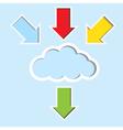 Cloud with color arrow vector