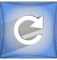 Arrow update flat modern web design on a flat vector