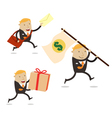 Delivery businessman vector