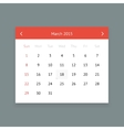 Calendar page for march 2015 vector