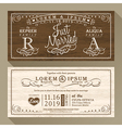 Vintage wedding invitation card border and frame vector