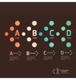 Modern dot arrow infographics vector