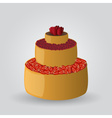 Layer cake with strawberries and cherries eps10 vector