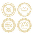 Set of linear badges - premium quality and best vector