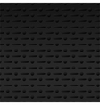 Black perforated metal background vector