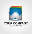 Technoogy company logo template vector