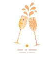 Warm stars toasting wine glasses silhouettes vector