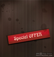 Special offer vintage business background vector