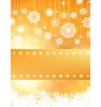 Christmas card in orange color eps 8 vector