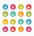 Coffee icons set circle series - eps10 vector
