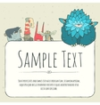 Cute doodle monster greeteng or invitation card vector