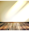 Beige blue wall with lights wooden floor eps 10 vector