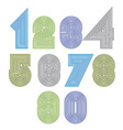 Extraordinary round striped numbers creative light vector