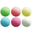 Six colourful balls vector