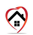 House heart logo vector