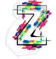 Colorful font - letter z vector