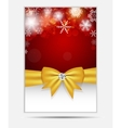 Christmas snowflakes website banner and card vector