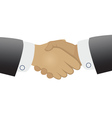 Handshake on white background vector