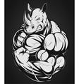Strong rhinoceros vector