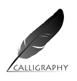 Calligraphic pen vector