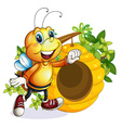 A bee near the beehive vector