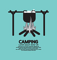 Cooking on campfire vector