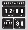 Digital retro clock and calendar vector