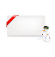 Christmas gift tag vector