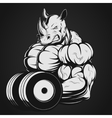 Rhino with dumbbell vector