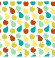 Seamless fruit pattern- apple and pear vector