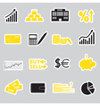 Financial and money stickers eps10 vector