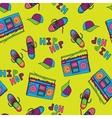 Hip hop music seamless pattern vector