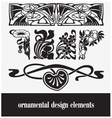 Ornamental design elements vector