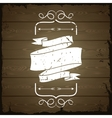 Wooden texture background with chalk labels and vector