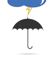 Umbrella with lightning color vector